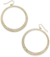 Thalia Sodi Gold-Tone Textured Gypsy Hoop Earrings, Only at Macy's