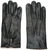 Paul Smith striped trim gloves - men - Lamb Skin - S