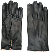 Paul Smith striped trim gloves