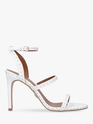 Kurt Geiger Portia 2 Studded Strappy Stiletto Sandals, White