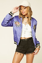 Forever 21 FOREVER 21+ Embroidered Souvenir Jacket