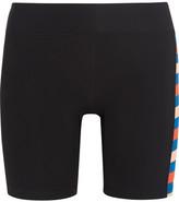 P.E Nation - Joust Striped Stretch-jersey Shorts - Black