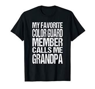 Mens My Favorite Color Guard Calls Me Grandpa Marching Band T-Shirt