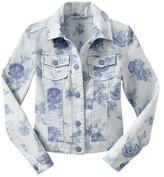 Gap Floral print denim jacket