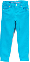 U.S. Polo Assn. Turquoise Stretch Sateen Twill Pants - Toddler & Girls