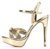 Charlotte Russe Metallic Platform Dress Sandals
