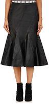 Derek Lam 10 Crosby Women's Leather Flared Skirt-BLACK