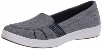 Grasshoppers Women's Janis Fisherman Chambray Slip-On
