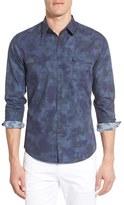 BOSS ORANGE Men's Edoslim Extra Trim Fit Print Woven Shirt