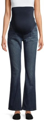 """Time and Tru Womens Maternity Bootcut Jeans with 32"""" Inseam and Full Panel"""