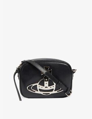 Vivienne Westwood Anna Orb-logo leather camera bag