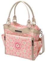 Petunia Pickle Bottom Infant Girl's 'City Carryall' Glazed Canvas Diaper Bag - Pink