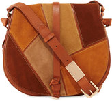 Foley + Corinna Daisey Patchwork Leather Saddle Bag, Neutral/Multi