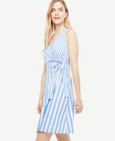 Ann Taylor Striped Poplin Flare Dress