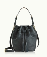 GiGi New York Jenn Bucket Bag Embossed Python