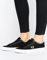 Fred Perry Kendrick Black Tipped Cuff Canvas Sneakers