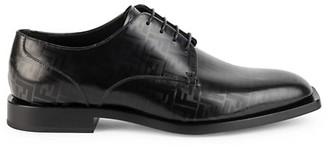 Fendi FF Logo Leather Derby Shoes