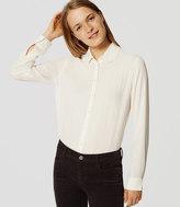 LOFT Ruffle Collar Shirt