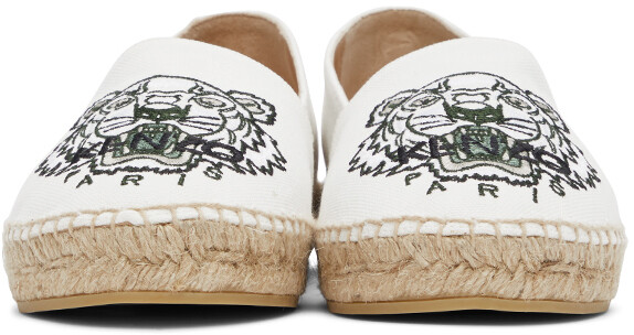 Thumbnail for your product : Kenzo Off-White Classic Tiger Espadrilles