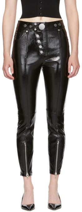 Alexander Wang Black Patent Leather Pants