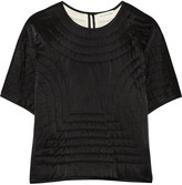 Etoile Isabel Marant Landers quilted cotton and silk-blend top