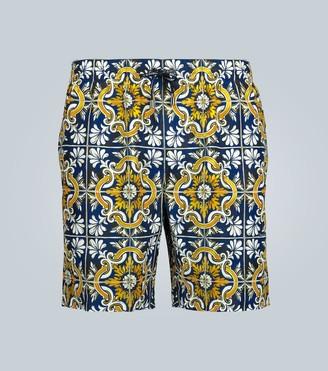 Dolce & Gabbana Tile printed swim shorts