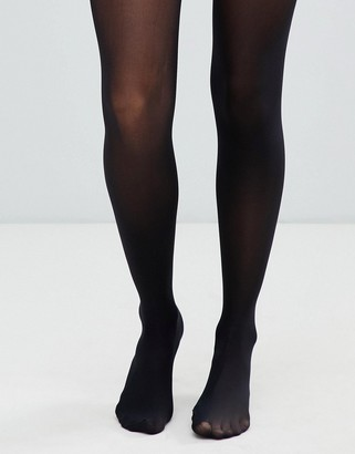 ASOS DESIGN recycled 40 denier black tights with bum tum thigh support