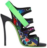 DSQUARED2 120mm Floral Printed Neoprene Sandals