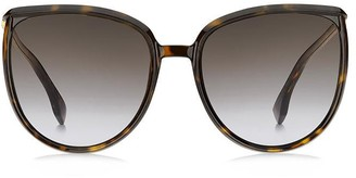 Fendi Eyewear Oversized Cat Eye Frame Sunglasses