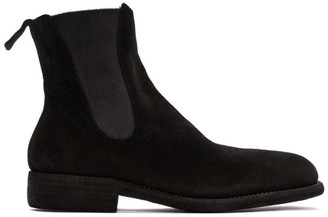 Guidi Black Leather Chelsea Boots