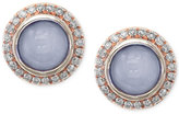 Effy Chalcedony (4-19/20 ct. t.w.) and Diamond (1/4 ct. t.w.) Earrings in 14k Rose Gold