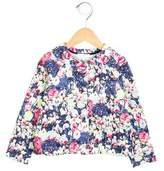 Cacharel Girls' Splatter Print Button-Up Jacket