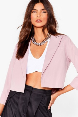 Nasty Gal Womens This Means Business Cropped Tailored Blazer - Blush