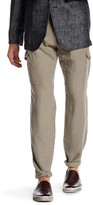 John Varvatos Slim Fit Linen Cargo Pants