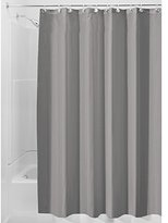 "InterDesign Water-Repellent and Mildew-Resistant Fabric Shower Curtain, 72"" X 96"" - Extra Long, Gray"