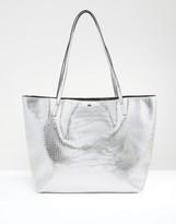 Asos Croc Bonded Shopper Bag
