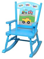 Levels of Discovery Olive Kids Trains Planes Trucks Rocking Chair - Blue