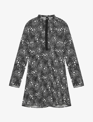 Maje Restrella star-patterned woven mini dress