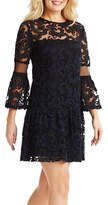 Donna Morgan Women's Embroidered Mesh A-Line Dress