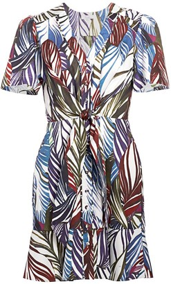 Parker Sheila Feather-Print Dress
