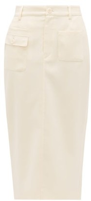 Altuzarra Mast Wool-blend Pencil Skirt - Womens - Ivory