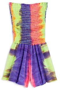 Vintage Havana Girls' Tie-Dyed Smocked Romper - Big Kid