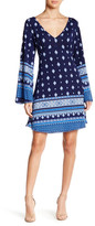 Angie Pompom Trim Bell Sleeve Dress