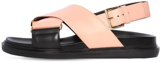 Marni 10mm Fussbet Leather Sandals