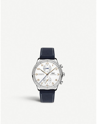 IWC IW371445 portugieser leather watch
