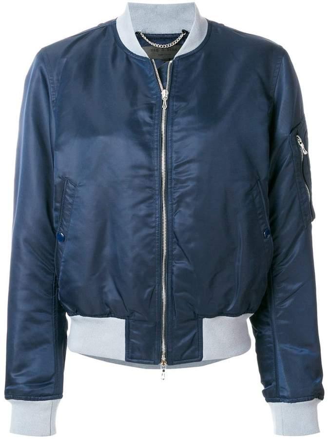Rag & Bone round neck zipped jacket