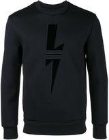 Neil Barrett Sport Bolt sweatshirt - men - Polyurethane/Viscose - S