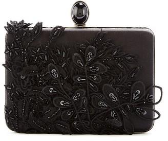 Oscar de la Renta Sequin-Embroidered Silk Rogan Clutch
