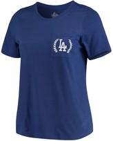 Majestic Women's Royal Los Angeles Dodgers Plus Size Scoop Neck Pocket T-Shirt