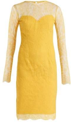 Emilio De La Morena Julietta Lace And Silk Blend Dress - Womens - Yellow